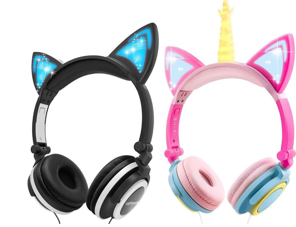 Isightguard Cat Ear Headphones for Gaming