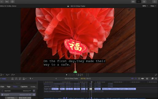 Final Cut Pro X to edit subtitles