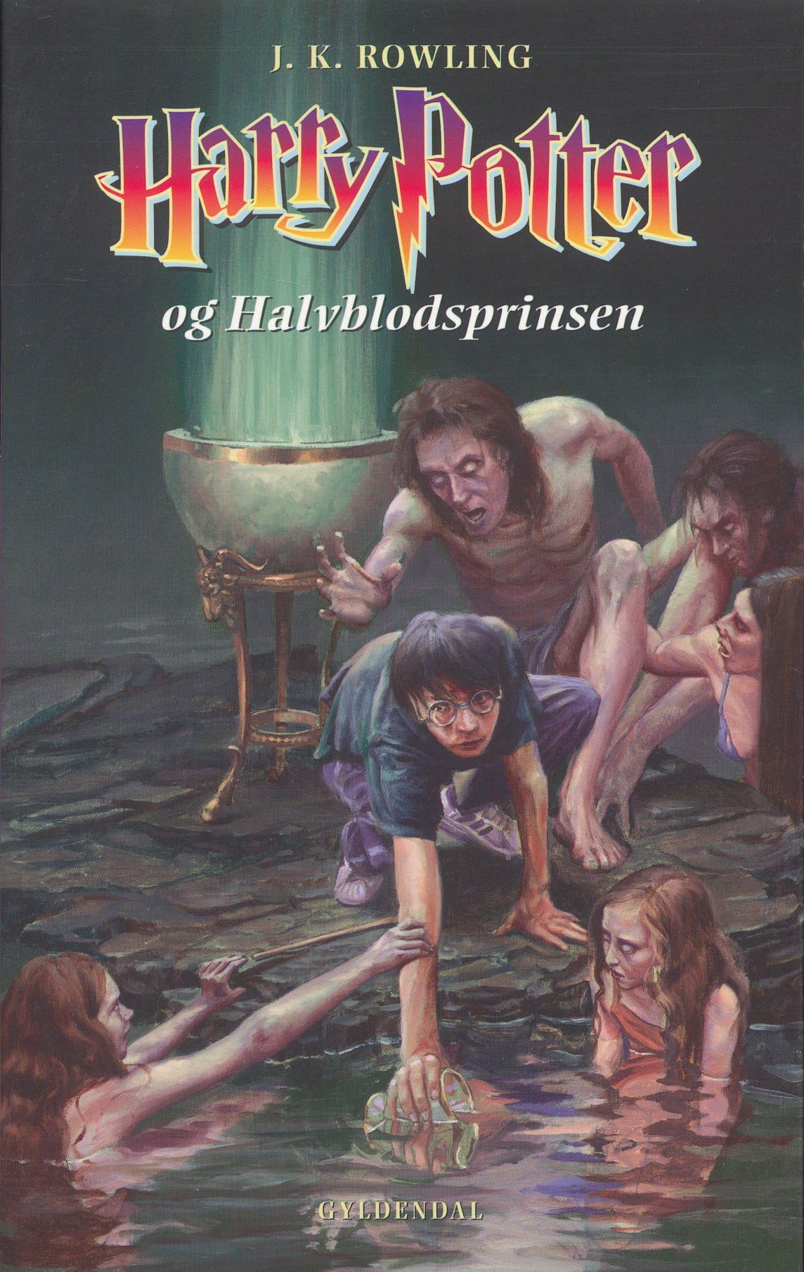 Harry Potter and the Half-Blood Prince Book Cover Denmark version