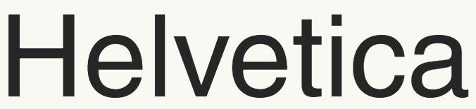 subtitle font Helvetica