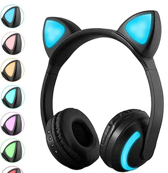Luckyu Wireless Bluetooth Cat Ear Headphones
