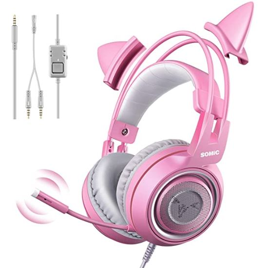 Cat Ear Headset with Mic
