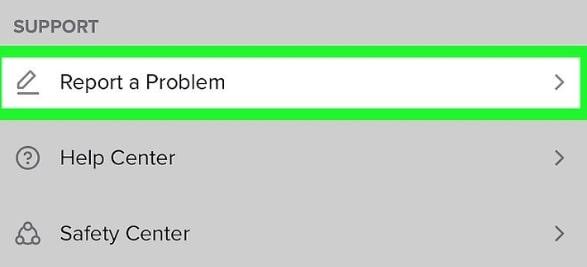 report problem