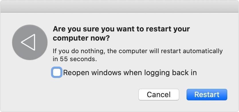 restart mac to solve disconnecting