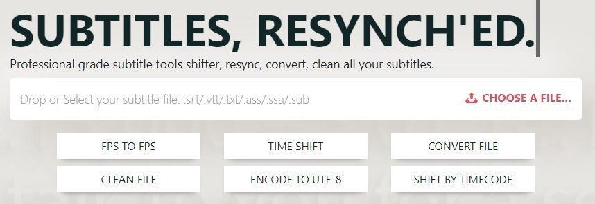 Subsyncer srt subtitle editor online
