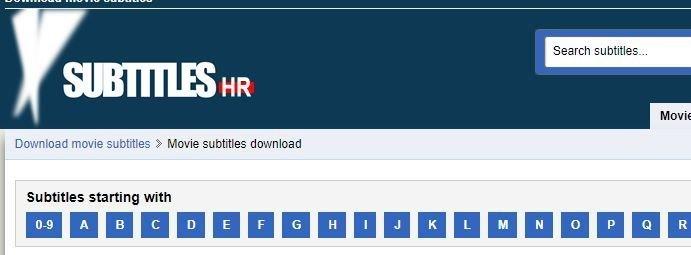 Subtitles.hr website
