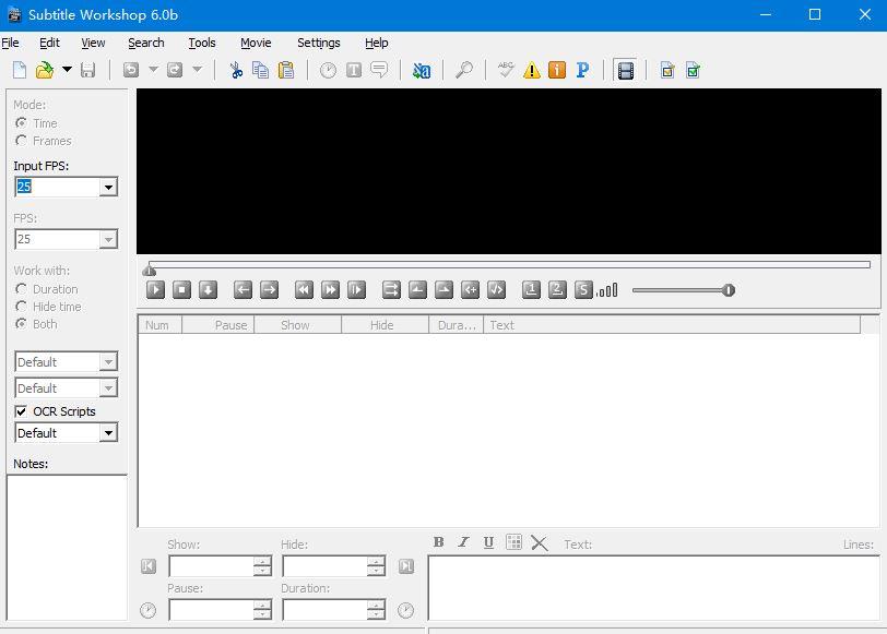 Subtitle Workshop interface